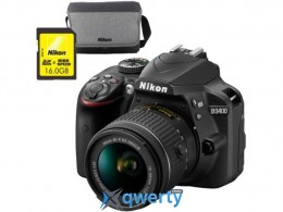 Nikon D3400 + AF-P 18-55VR +16GB + BAG (VBA490K009)