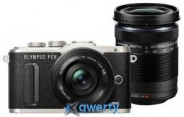 Olympus E-PL8 DZK 14-42 mm Pancake + 40-150 mm Black/Black(V205083BE000)