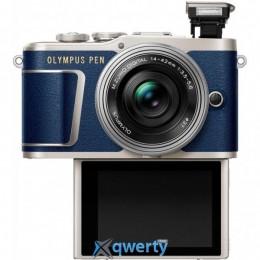 Olympus E-PL9 14-42 mm Pancake Zoom Kit Blue/Silver(V205092UE000)
