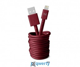 Fresh N Rebel Fabriq Lightning Cable 3m Ruby (2LCF300RU)