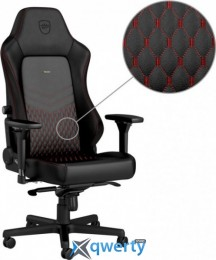 NOBLECHAIRS Hero Real Leather Black/Red (GAGC-120)
