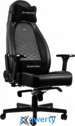NOBLECHAIRS Icon Black/Platinum White (GAGC-086)