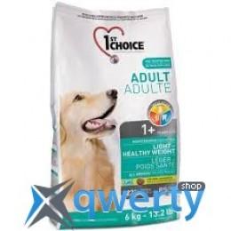 1st Choice (Фест Чойс) малокалорийный сухой супер премиум корм для собак с избыточным весом , 6 кг.1STDAL6