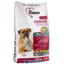 1st Choice (Фест Чойс) с ягненком и океанической рыбой сухой супер премиум корм для пожилых собак , 6кг 1STDSLF6