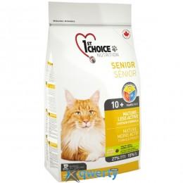 1st Choice Senior Mature Less Aktiv ФЕСТ ЧОЙС СЕНЬОР для пожилых или малоактивных котов , 0.35 кг. 1STCS350