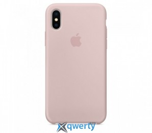 Apple iPhone X Silicone Case (OEM) - Pink Sand