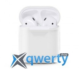 Чехол Airpods Silicon case+straps white (in box) купить в Одессе