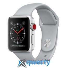 Apple Watch Series 3 38mm (GPS+LTE) Silver Aluminum Case with Fog Sport Band (MQJN2)