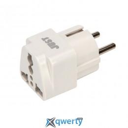 JUST Travel 2EU Plug White (PLG-TRLEU-WHT)