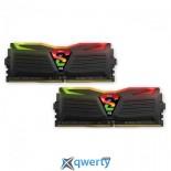 GeIL DDR4-2400 16GB PC4-19200 (2x8) Super Luce Black RGB Lite (GLC416GB2400C16DC)