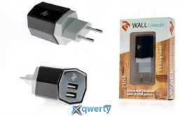 Сетевое ЗУ 2E Dual USB Wall Charger 3.4A, black