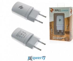 Сетевое ЗУ 2E USB Wall Charger 1A, white