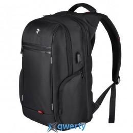 Рюкзак для ноутбука 2E-BPN9004BK 16 черный+USB интерфейс