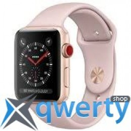 Apple Watch Series 3 GPS + LTE MQJQ2 38mm Gold Aluminum Case with Pink Sand Sport Band