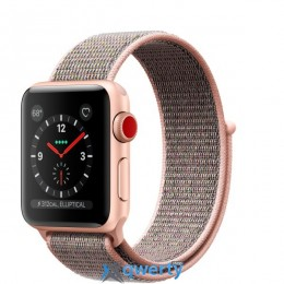 Apple Watch Series 3 GPS + LTE MQJU2 38mm Gold Aluminum Case with Pink Sand Sport Loop купить в Одессе