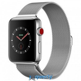 Apple Watch Series 3 GPS + LTE MR1R2 38mm Stainless Steel Case with Milanese Loop