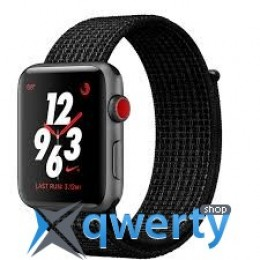 Apple Watch Series 3 Nike+ (GPS + LTE) MQL82 38mm Space Gray Aluminum Case with Black/Pure PlatinumSport Loop