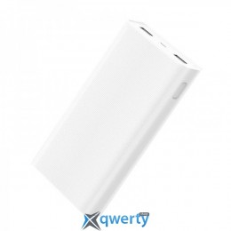 XIAOMI Mi Power Bank 2C 20000 mAh (PLM06ZM) QC3.0 (3.6A, 2USB) White (VXN4212CN)