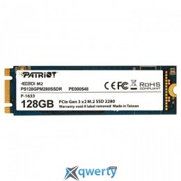 PATRIOT Scorch M.2 128GB PCIe Gen 3.0 x2 NVMe (PS128GPM280SSDR) TLC