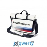 BMW Motorsport Messenger Bag, White/Team Blue 2017