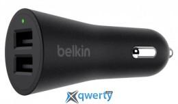 Belkin USB DUAL METALLIC (USB 2.4Amp), 24W,BLACK (F8M930btBLK)