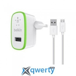 Belkin USB Home Charger (2.4Amp) c кабелем Micro-USB,WHT (F8M886vf04-WHT)