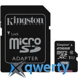 Kingston 256GB microSDXC C10 UHS-I R80MB/s + SD адаптер (SDCS/256GB)