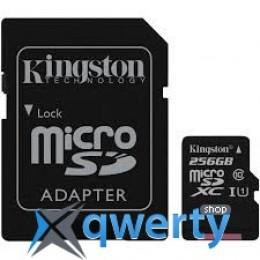 Kingston 256GB microSDXC C10 UHS-I R80MB/s + SD адаптер (SDCS/256GB)