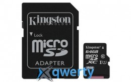 Kingston 64GB microSDXC C10 UHS-I R80MB/s + SD адаптер (SDCS/64GB)