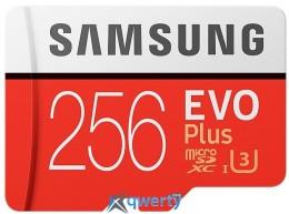 Samsung 256GB microSDXC C10 UHS-I U3 R100/W90MB/s Evo Plus + SD адаптер (MB-MC256GA/RU)