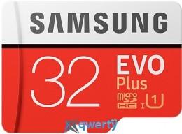 Samsung 32GB microSDHC C10 UHS-I R95/W20MB/s Evo Plus + SD адаптер (MB-MC32GA/RU)