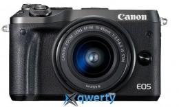 Canon EOS M6 Kit 15-45 IS STM Black (1724C043)