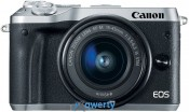 Canon EOS M6 Kit 15-45 IS STM Silver (1725C045)
