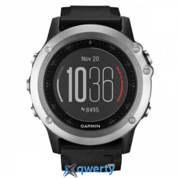 Garmin Fenix 3 HR GPS Silver with Black Silicone Band (010-01338-77)
