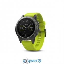 Garmin Fenix 5 Slate Gray with Yellow Band (010-01688-02)