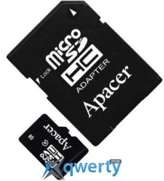 APACER microSDHC 16GB Class 4+adapter (AP16GMCSH4-R)