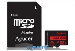 APACER microSDHC 16GB UHS-I U1+adapter (R85MB/s) (AP16GMCSH10U5-R)