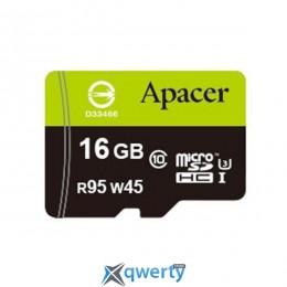 APACER microSDHC 16GB UHS-I U3+adapter (R95, W45MB/s) (AP16GMCSH10U3-R)