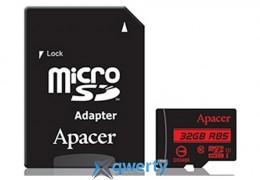 APACER microSDHC 32GB UHS-I U1+adapter (R85MB/s) (AP32GMCSH10U5-R) купить в Одессе