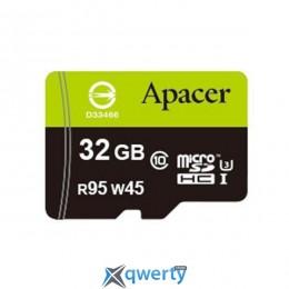 APACER microSDHC 32GB UHS-I U3+adapter (R95, W45MB/s) (AP32GMCSH10U3-R)