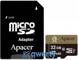 APACER microSDHC 32GB UHS-I U3+adapter (R95, W85MB/s) (AP32GMCSH10U4-R) купить в Одессе
