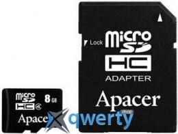 APACER microSDHC 8GB Class 4+adapter (AP8GMCSH4-R)