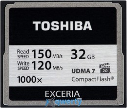 TOSHIBA Compact Flash 32 Gb 1000x (R150, W120MB/s) (CF-032GTGI(8)