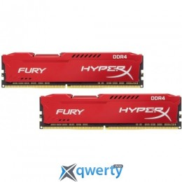 Kingston DDR4-3466 16GB PC4-27700 (2x8) HyperX Fury Red (HX434C19FR2K2/16)