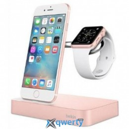 BELKIN Charge Dock iWatch + iPhone, rose-gold (F8J183vfC00)