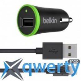Belkin USB BoostUp Charger (LIGHTNING сable, USB 2.4Amp), Черный (F8J121bt04-BLK)