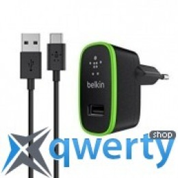 Belkin USB Home Charger (2.1Amp) c кабелем USB-C to USB-A, 1.8m, BLK