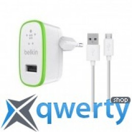 Belkin USB Home Charger (2.4Amp) c кабелем Micro-USB,WHT