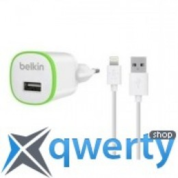 Belkin USB Micro HomeCharger (LIGHTNING сable, USB 1Amp), Белый