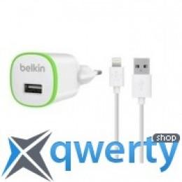 Belkin USB Micro HomeCharger (LIGHTNING сable, USB 1Amp), Белый